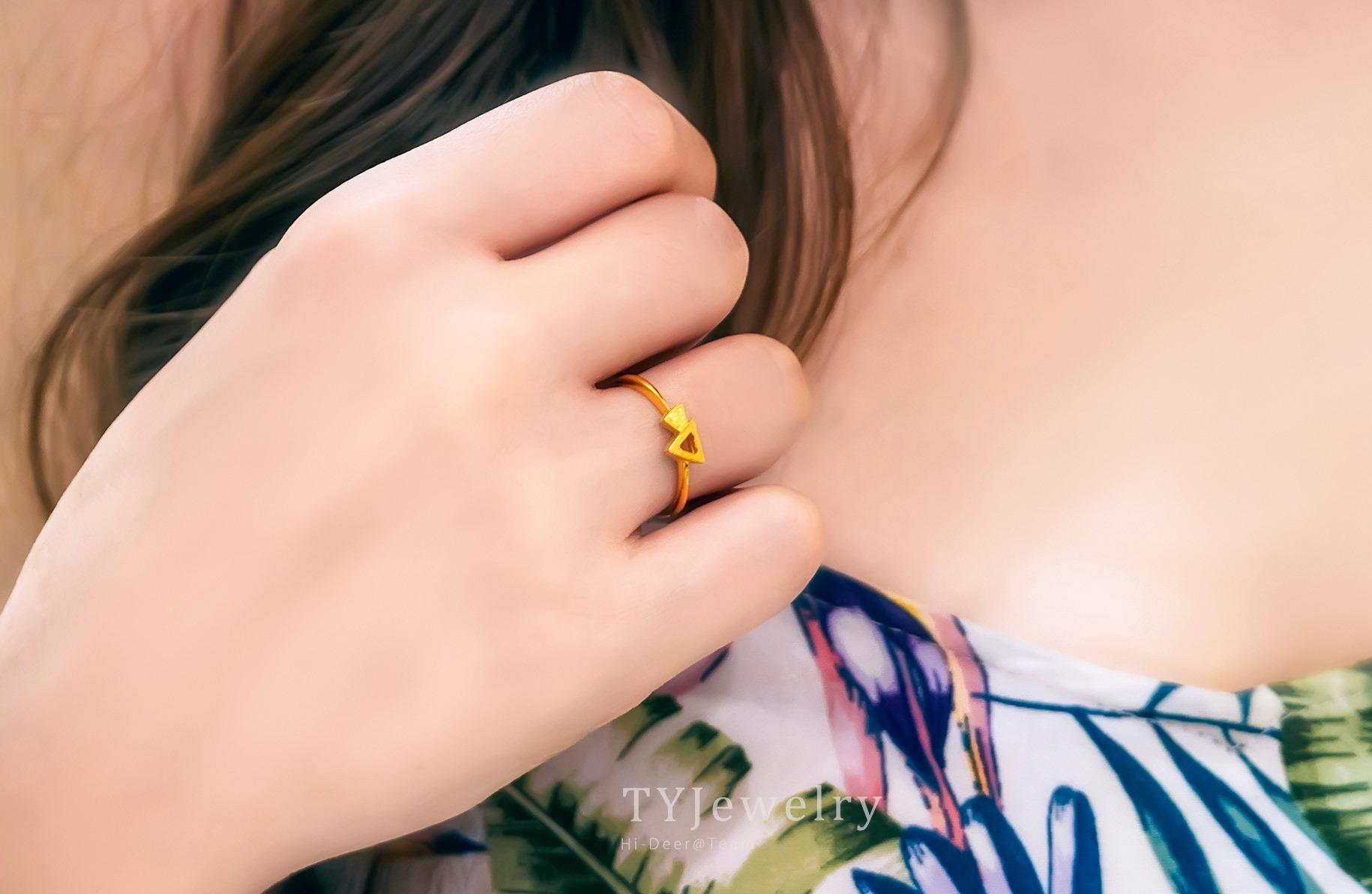 - 天瑩-GIA鑽石婚戒黃金 作品瀏覽